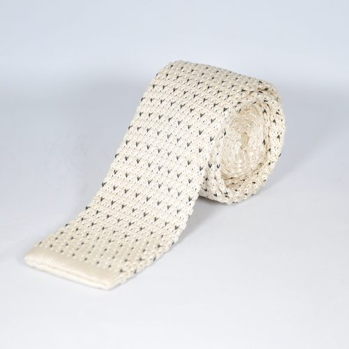 OFF-WHITE KNITTED TIE