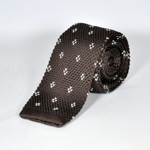 Brown-Knitted-Tie
