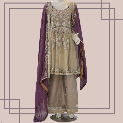 Peplum with Culottes and Dupatta