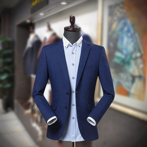 Beat the heat with Navy Blue men's Blazer for summer that makes you look sophisticated. This single breasted blazer has a soft and smooth fabric that makes you feel comfortable and stylish in extremely hot weather. It has the lightweight cloth that fights hot weather. This versatile blazer can be worn on any event.